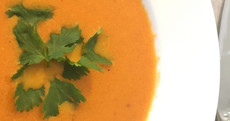 Roasted Tomato Soup with Mexican Flavours