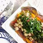 Mediterranean Tomato Salad with Onion, Spiced Feta, and Preserved Lemon | cookglobaleatlocal.com