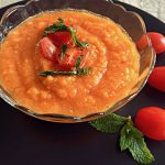 Ice Cold Gazpacho, A Zesty, Refreshing, No-Cook Summer Soup | cookglobaleatlocal.com