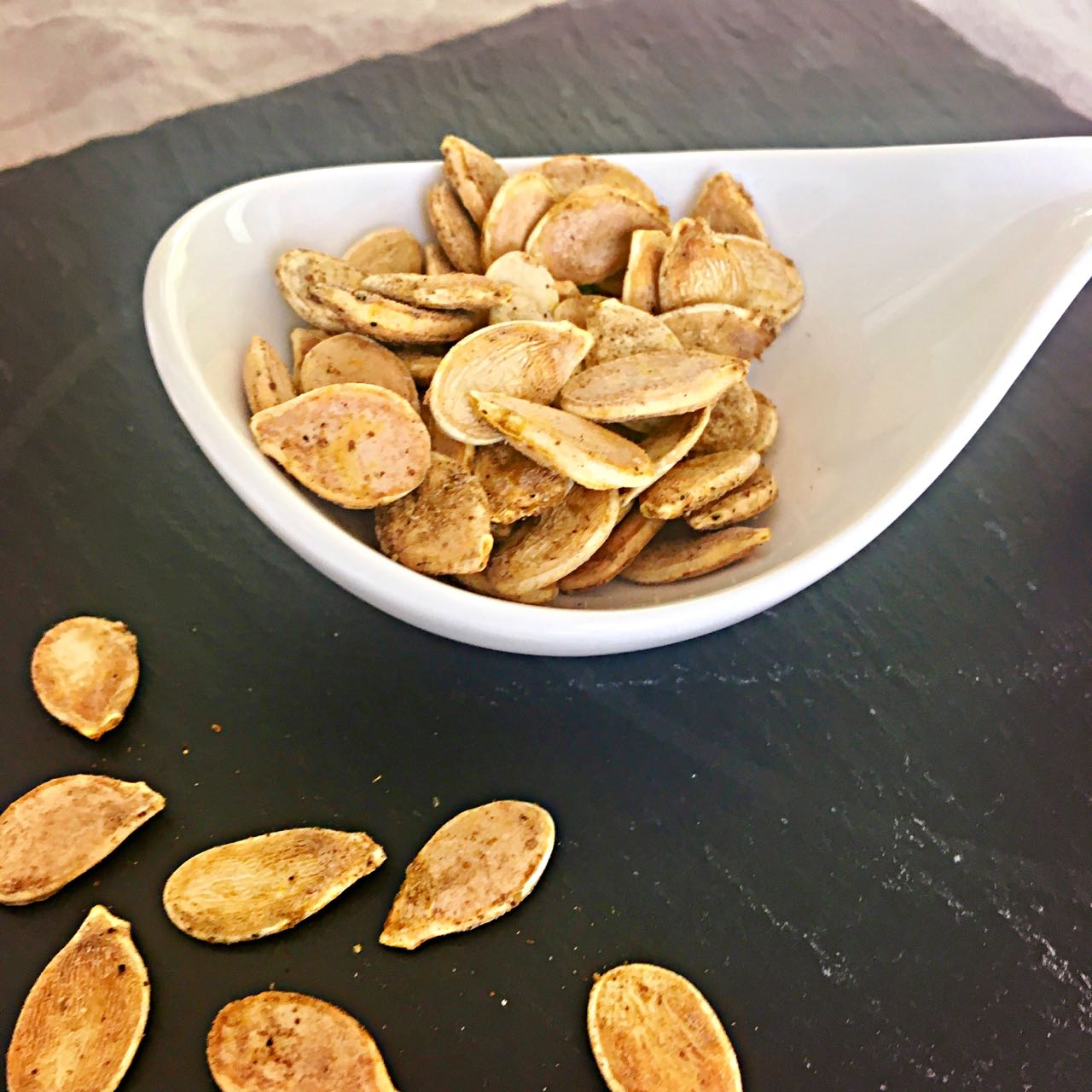 Spicy Toasted Pumpkin or Squash Seeds