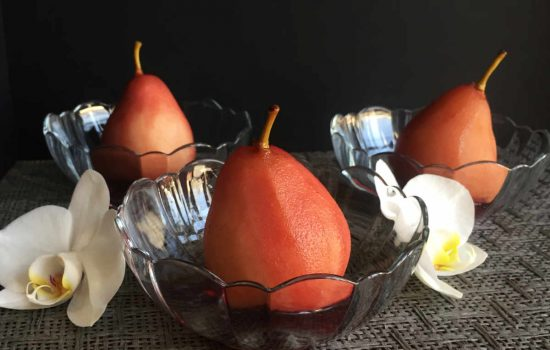 Instant Pot™ Spiced, Poached Pears in Red Wine
