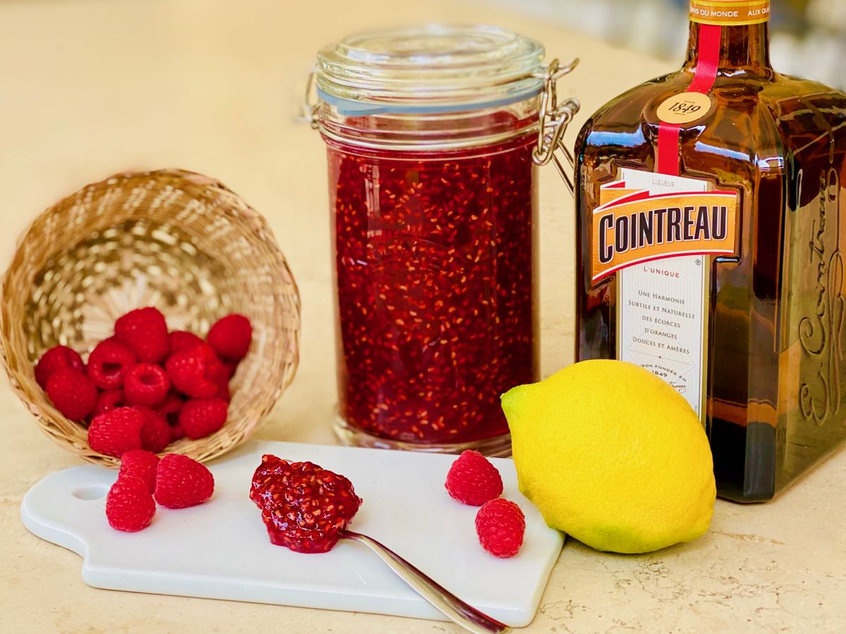 Small Batch Raspberry Cointreau Jam