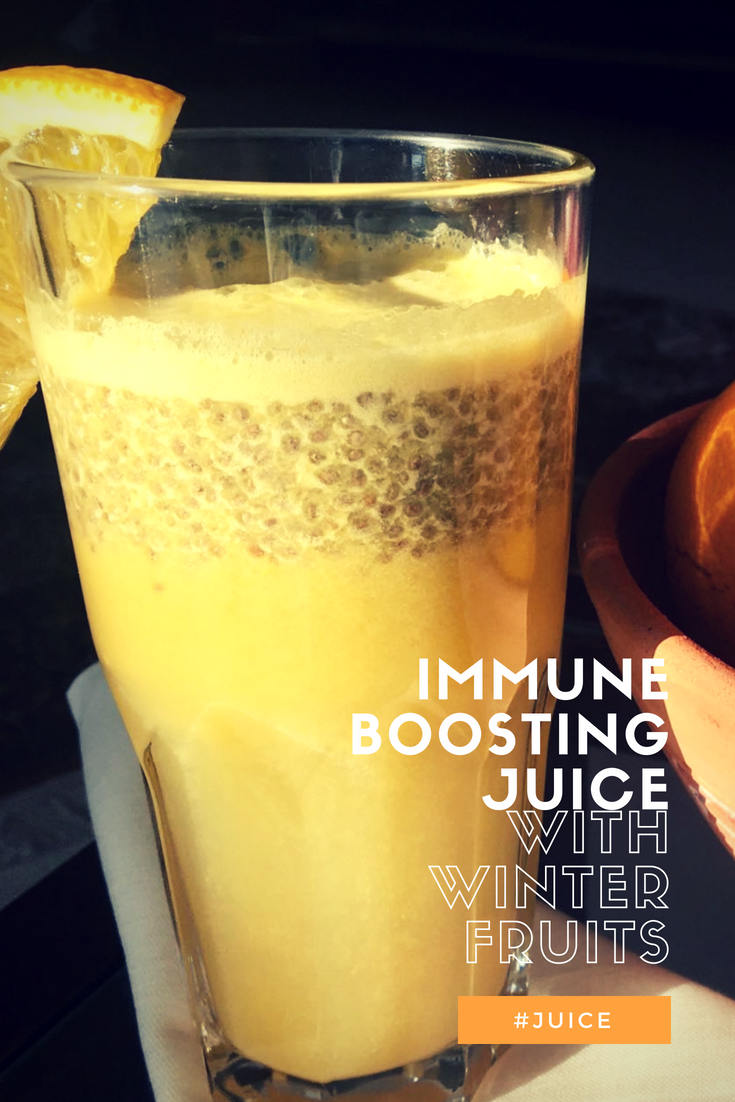 Immune Boosting Juice with Winter Fruits | cookglobaleatlocal.com