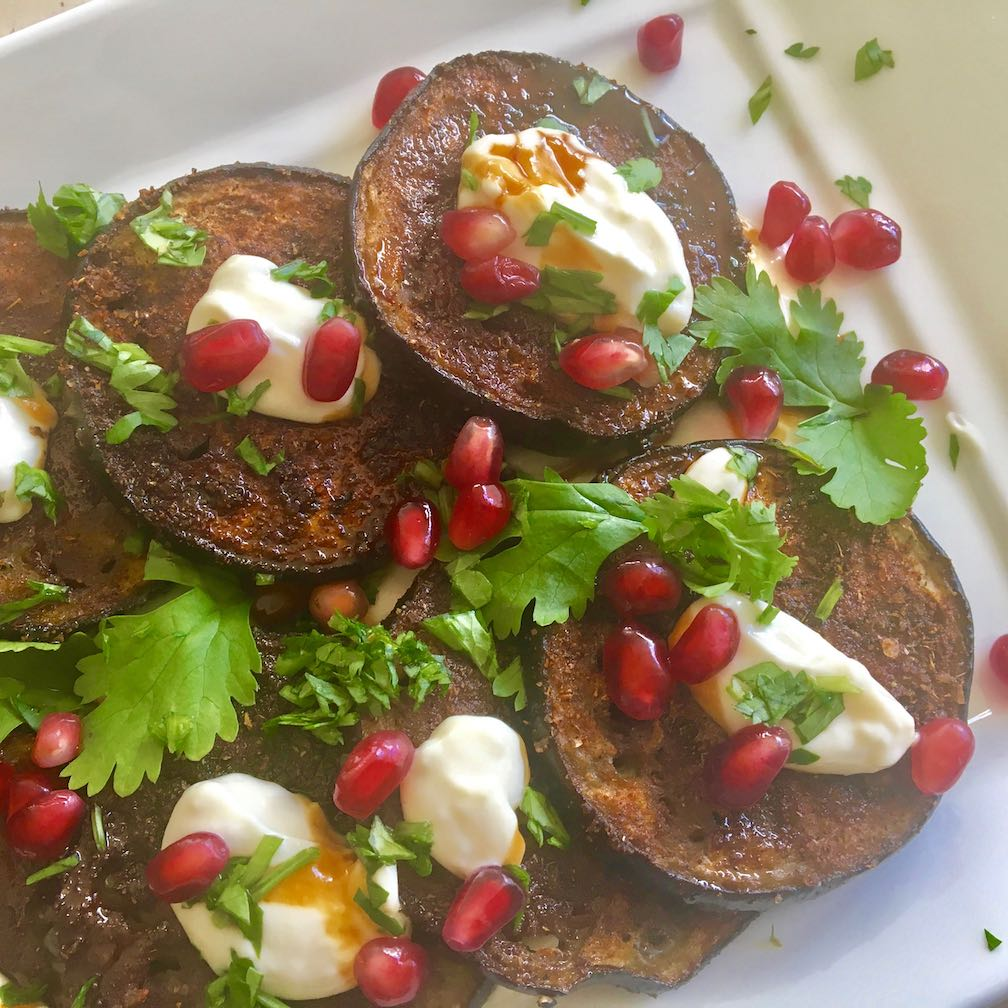 Baharat Roasted Eggplant Salad