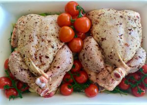 Roast Chicken with Baby Fennel | cookglobaleatlocal.com