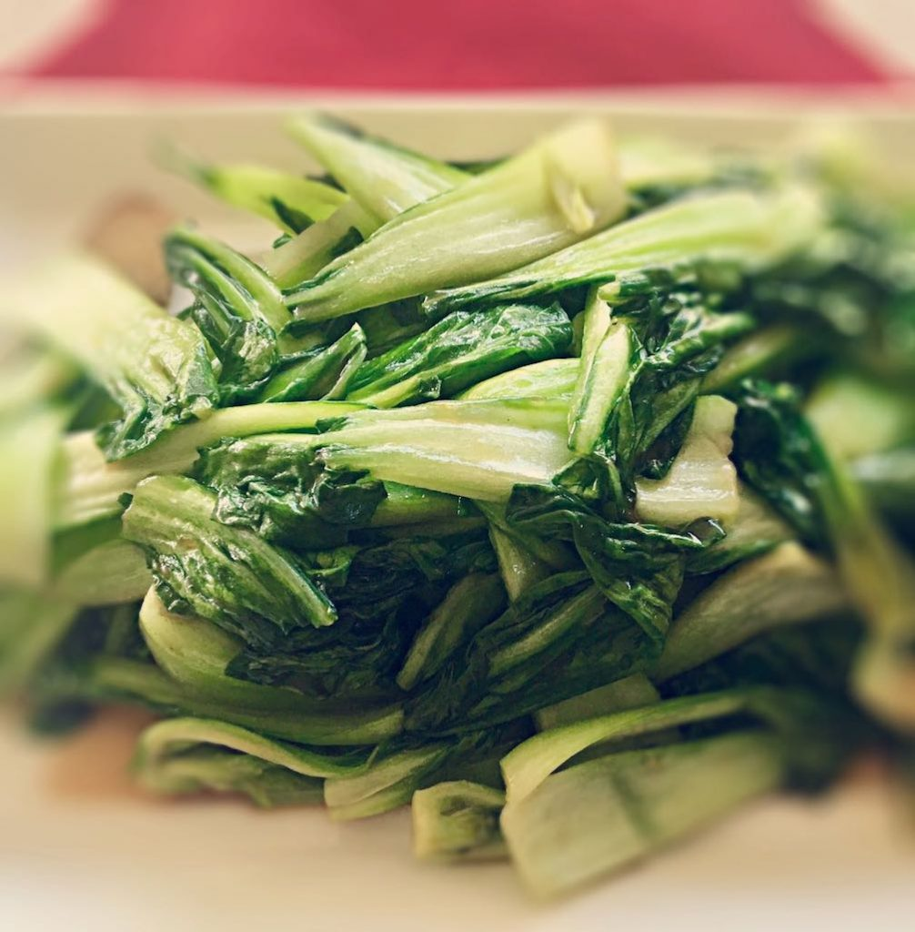Stir Fried Baby Bok Choy | cookglobaleatlocal.com