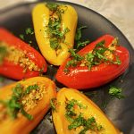 Stuffed Baby Peppers with Bulgur, Tuna, and Preserved Lemon | cookglobaleatlocal.com