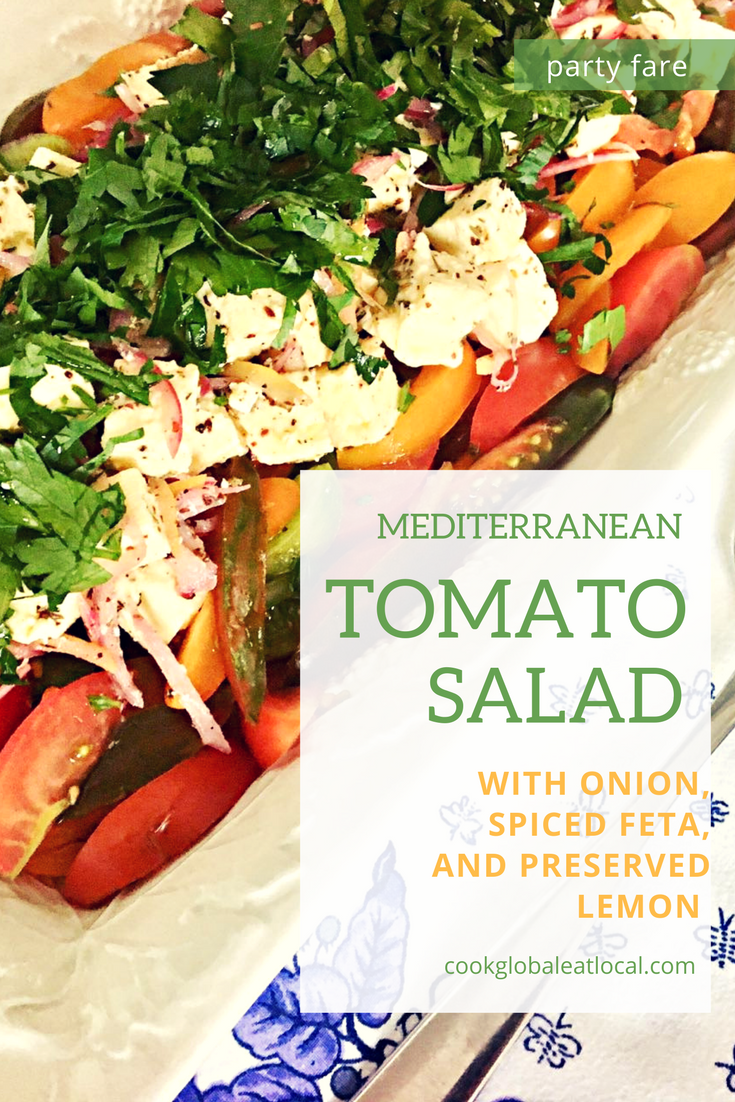 Onion, Spiced Feta, and Preserved Lemon | cookglobaleatlocal.com