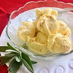 Creamy Sage-Infused Bourbon Pumpkin Pie Ice Cream | cookglobaleatlocal.com