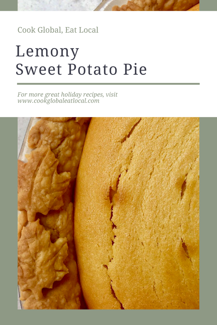 Lemony Sweet Potato Pie | cookglobaleatlocal.com