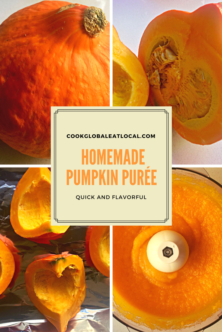 Quick and Flavorful Homemade Pumpkin Purée | cookglobaleatlocal.com
