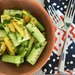Tangy Cucumber and Tomato Salad with Pomegranate Molasses | cookglobaleatlocal.com