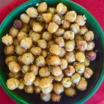 Simple Spicy Roasted Chickpeas, A Healthy Lunchbox or Cocktail Snack