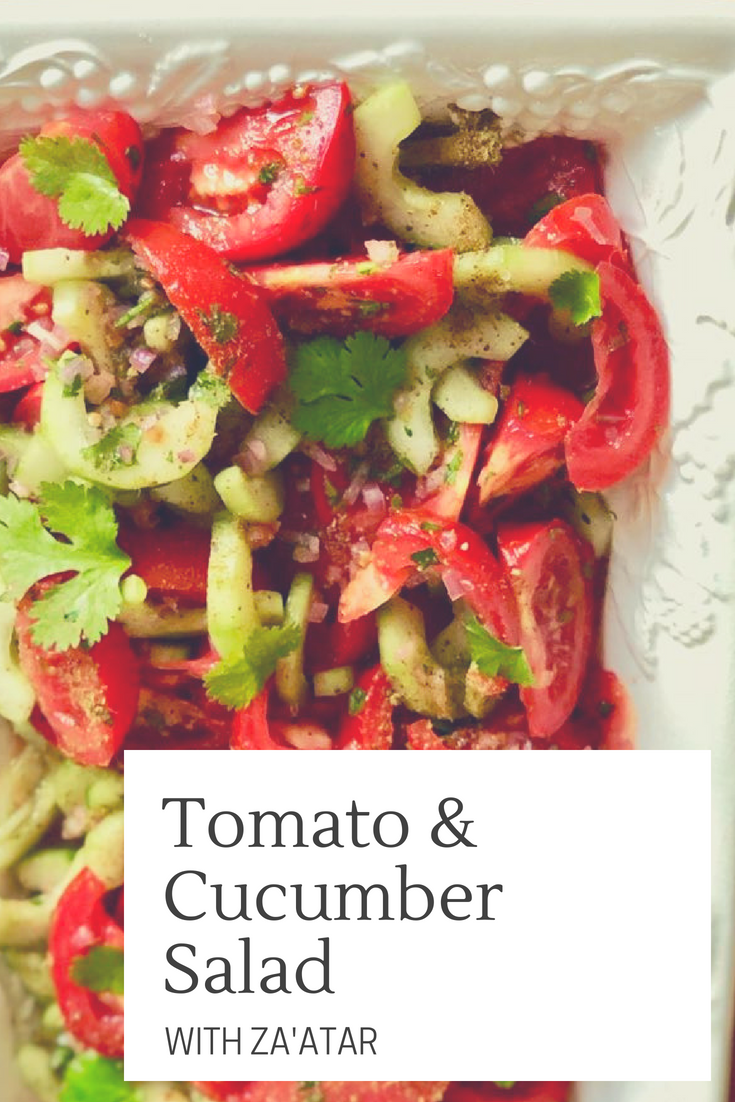 Tomato and Cucumber Salad with Za'atar | cookglobaleatlocal.com