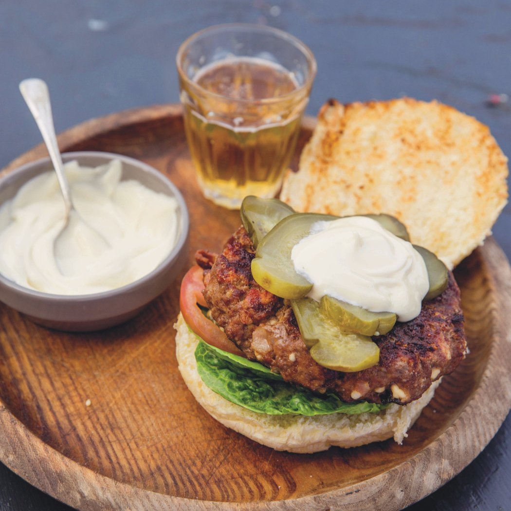 Spiced Bacon and Cheese Burgers from South African Grill Master, Jan Braai's, Shisanyama