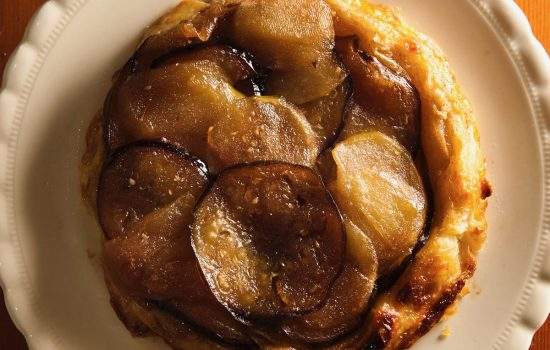 Apple and Aubergine Tarte Tatin, A Recipe from Lampedusa Pie