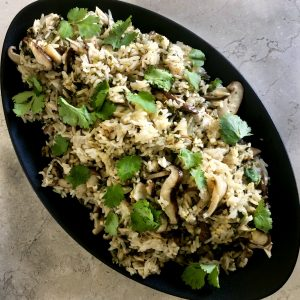 Easy Instant Pot™ Shiitake Mushroom Rice Pilaf | cookglobaleatlocal.com