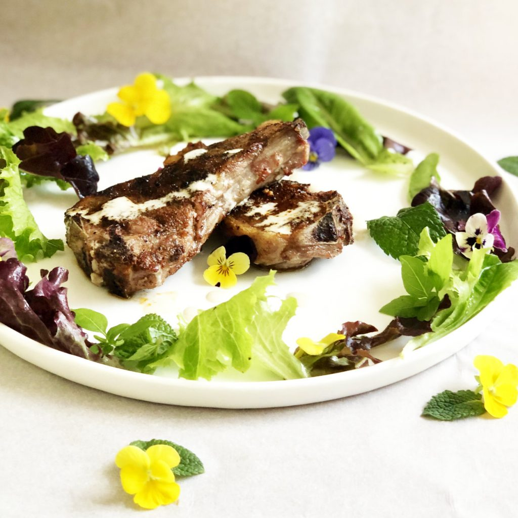 North African Grilled Lamb Chops with Tahini Sauce | cookglobaleatlocal.com