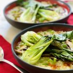 Instant Pot™ Congee with Baby Bok Choy and Shiitake Mushrooms | cookglobaleatlocal.com