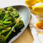 10-Minute Spicy Broccolini with Lemon Juice | cookglobaleatlocal.com