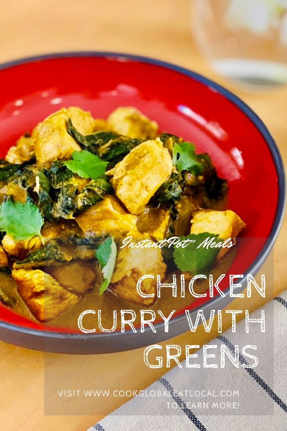 Easy Instant Pot™ Chicken Curry with Greens