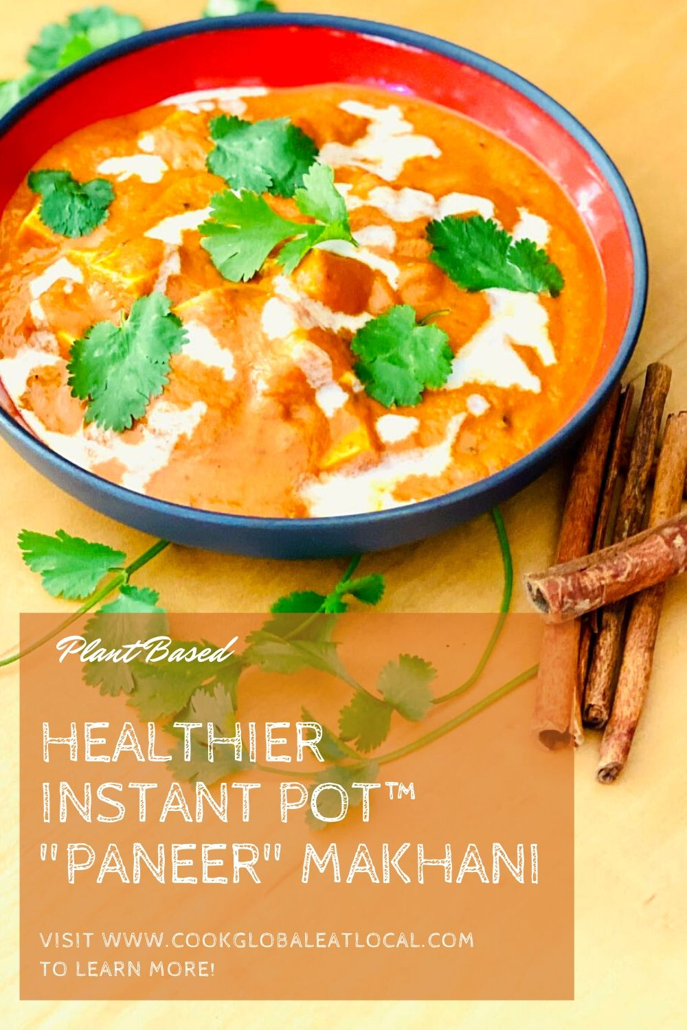 "Healthier ""Paneer"" Makhani from the Instant Pot™ 