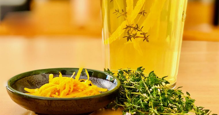 Orange and Thyme Infused Vinegar Recipe