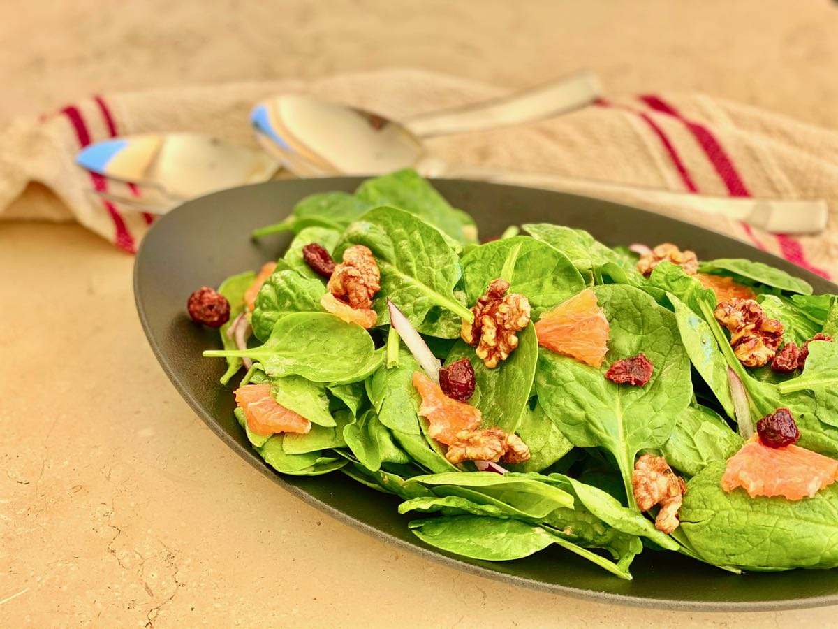 Cranberry Orange Spinach Salad